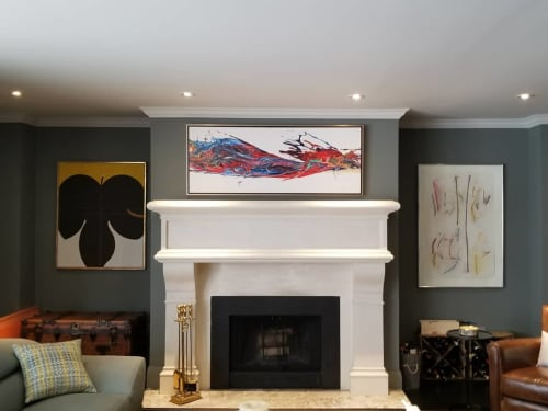 Paintings by Peter Triantos seen at Private Residence, Toronto - SP2 Series