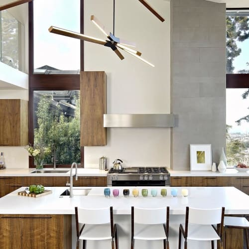Chairs by Fyrn seen at Private Residence, San Francisco - Linden Counter Stools