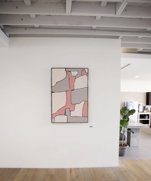 Paintings by Cortney Herron seen at The Riveter: West LA, Los Angeles - FRMWRK01