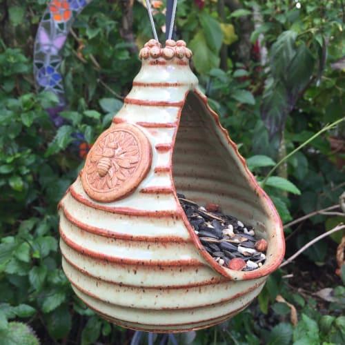 Vases & Vessels by Queen Bee Pottery seen at Queen Bee Pottery Studio, Coconut Creek - Bird Feeder