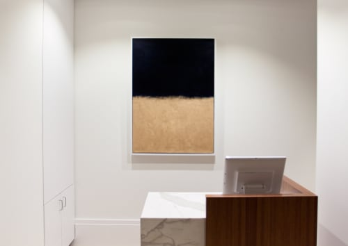 Art & Wall Decor by Matthew Thomas seen at Club Quarters Hotel in Houston, Houston - Navy & Gold, 2015