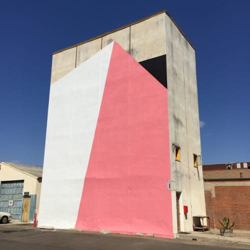 Murals by Tofer Chin seen at Gallerie Silo: Artist Studio, Santa Barbara - 1 Shift - Outdoor Mural
