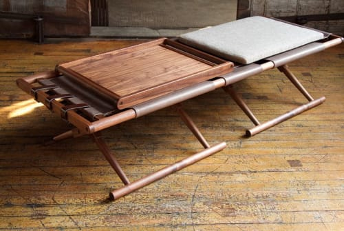 Chairs by Richard Wrightman Design seen at Philip House, New York - Matthiessen Console