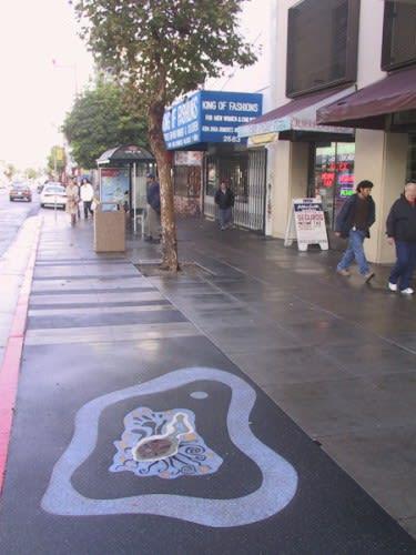 Public Mosaics by Joe Mangrum seen at Mission St & 22nd St., SF, San Francisco - Layla & Swingdaddy