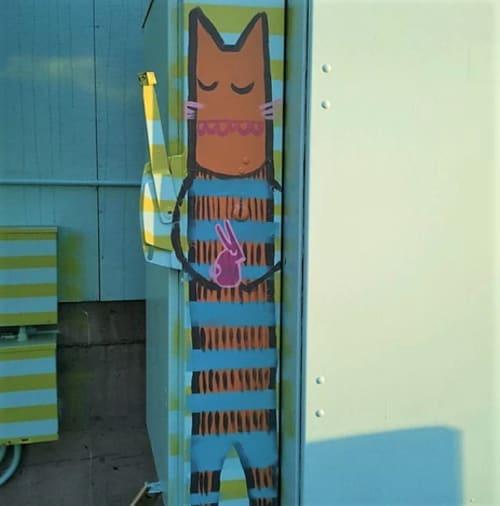 Murals by AJ Sharkstar seen at Les Schwab Amphitheater, Bend - Les Schwab
