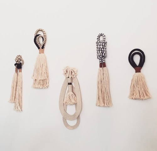Paintings by HIMO ART seen at BäcoShop, Culver City - One Of A Kind Tassels