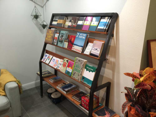 Furniture by Sean Millis Functional Art seen at Traveler, Pacifica - Retail Shelving