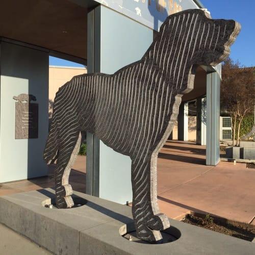 Sculptures by Lewis deSoto seen at San Jose Animal Care Center, San Jose - Shelter 2003