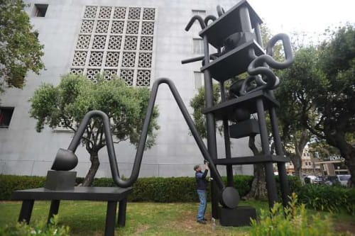 Sculptures by Peter Voulkos seen at Hall of Justice, San Francisco, San Francisco - Hall of Justice - 1971