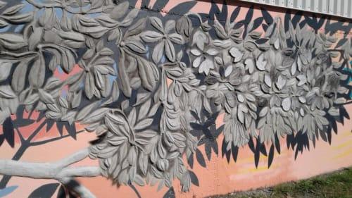 Street Murals by Paul Santoleri seen at Manayunk Canal Towpath, Philadelphia - Concrete Tree
