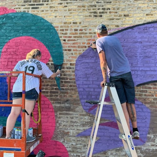 Street Murals by Mosher seen at District Brew Yards, Chicago - Mural