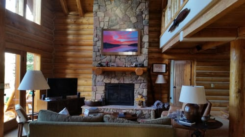Paintings by MAI WYN FINE ART at Collective Vail, a Retreat at 4 Eagle Ranch, Wolcott - Magnetic North