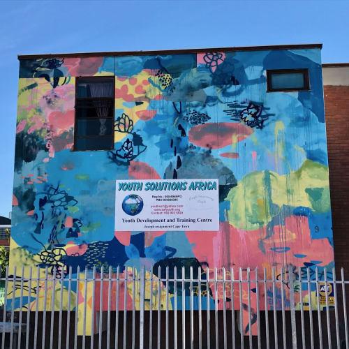 Street Murals by Paul Senyol seen at Shelley Road, Cape Town - Mural