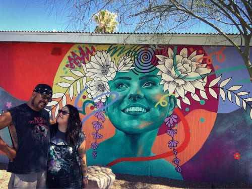 Murals by Jessica Gonzales Art seen at Hotel McCoy - Art, Coffee, Beer, Wine, Tucson - Mural