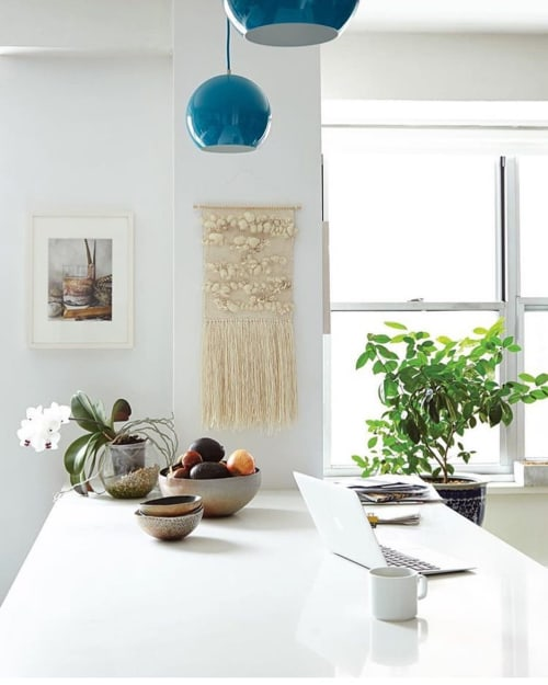 Wall Hangings by The Catskill Kiwi seen at Private Residence, New York - Puff Weave