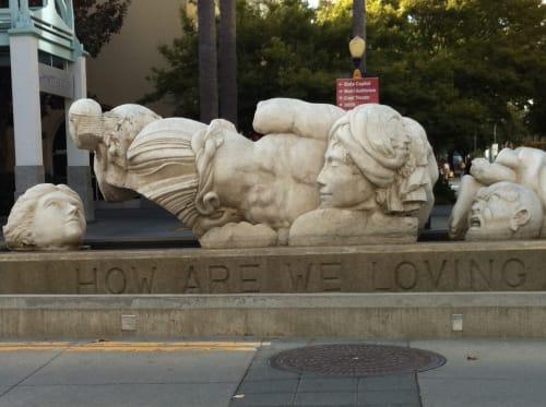 Sculptures by Stephen Kaltenbach seen at Sacramento Convention Center, Sacramento - Time to Cast Away Stones