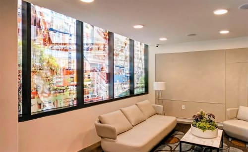 Murals by Counterpoint Studio, LLC seen at 923 Folsom Apartments, San Francisco - Photo Mural