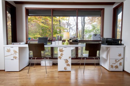 Furniture by Iannone Design seen at Private Residence, Chappaqua - Custom Desk and Filing Cabinets