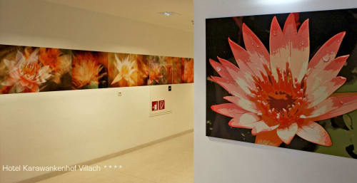 Photography by Rica Belna seen at Thermenhotel Karawankenhof, Villach - Rica Belna - Modern, Floral Hallways