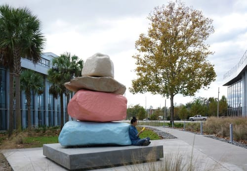 Public Sculptures by CHIAOZZA seen at University of Florida, Gainesville - Cairn