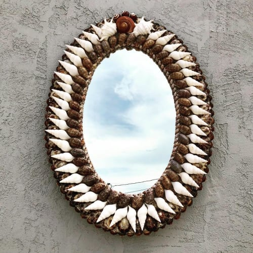 Wall Hangings by Christa Wilm seen at Private Residence, Palm Beach - Crisp Empire Mirror