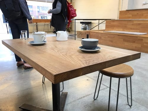 Tables by Arnaud Goethals seen at Vive La Tarte, San Francisco - Redwood Tables
