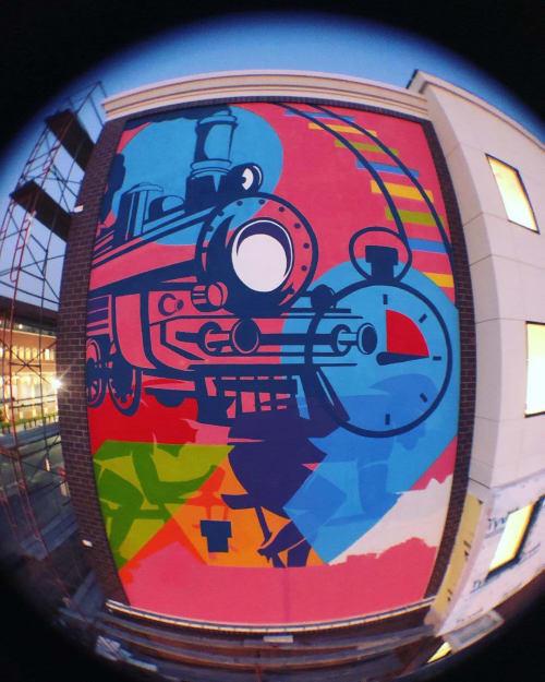 Murals by Josh Scheuerman seen at Tru By Hilton Ogden, UT, Ogden - Tru Hotel Mural
