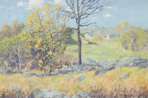 Paintings by Maurice Braun seen at Mills College Art Museum, Oakland - Spring Time