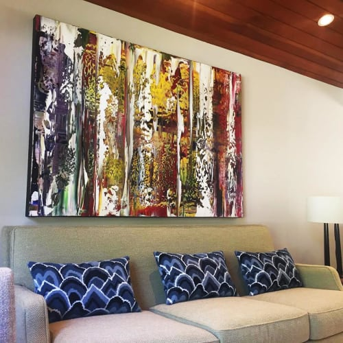 Paintings by James C Leonard seen at Private Residence, Lafayette - Abstract Painting