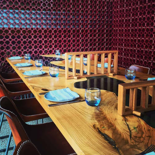 Tables by Wild About Wood seen at Sotto Sopra - Newport, Newport - Chestnut Dining Tables