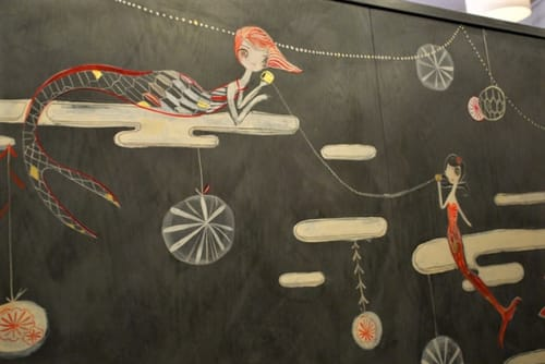 Murals by Kelly Tunstall seen at Siren Salon, San Anselmo - Sirens