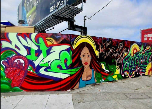 Street Murals by Leslie Lopez seen at East Oakland, CA, Oakland - They Tried to Bury Us