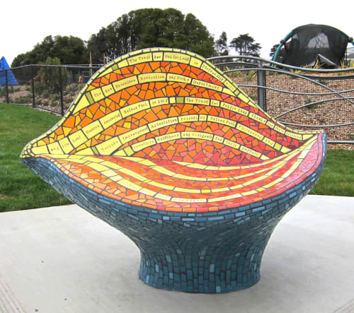 Public Sculptures by Rachel Rodi seen at Balboa Park, San Francisco, CA, San Francisco - Mosaic Sculptural Bench