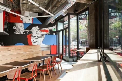 Popson's Burgers, Restaurants, Interior Design