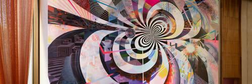 "Murals by Damon Soule seen at Grand Hyatt San Francisco, San Francisco - Painting ""Quintessence"""