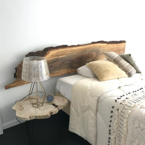 Beds & Accessories by Ian Love Design seen at Private Residence, Brooklyn - Black Walnut Floating Headboard
