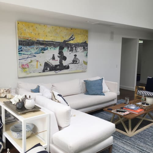Paintings by Andrew Cotton Art 100% COTTON seen at Private Residence, East Hampton North - At The Beach