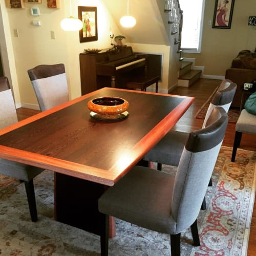 Tables by Roger Combs Woodworker seen at Private Residence, Sacramento - Wenge Dining Table