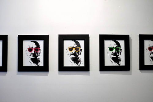 Art & Wall Decor by Alex Cherry seen at Badmaash, Los Angeles - Pictures of Gandhi