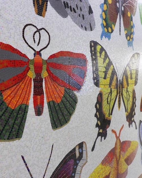 Public Mosaics by Josie Lewis Art seen at Minneapolis−Saint Paul International Airport - Mosaic Butterflies