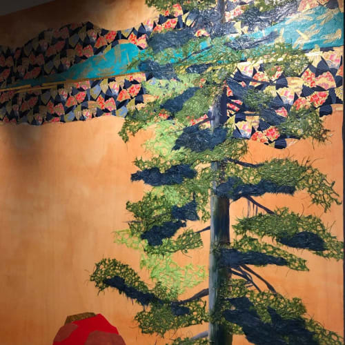 "Paintings by HARUKA ASHIDA OSTLEY seen at Private Residence, Portland - ""Ki to Kami""series"