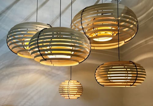 Lamps by Brian Kirk seen at Private Residence, Holte - Moon 100