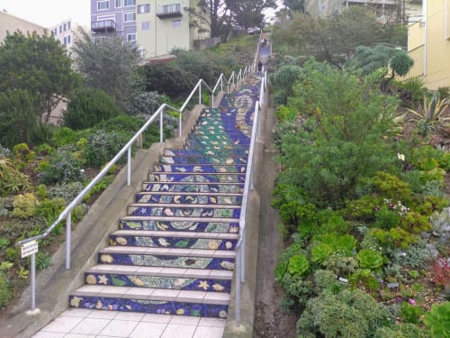 16th Avenue Tiled Steps, Urban Canvases, Interior Design