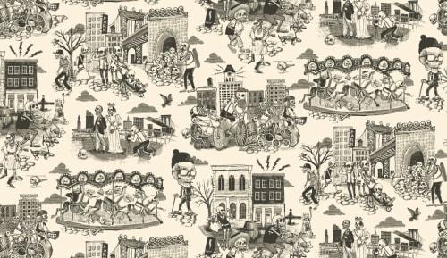 Wallpaper by Dan Funderburgh seen at Gran Electrica, Brooklyn - Dia De Dumbo - Wallpaper
