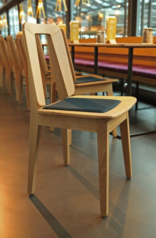 Chairs by atelier oï seen at tibits Luzern, Luzern - Wood Chairs and Tables