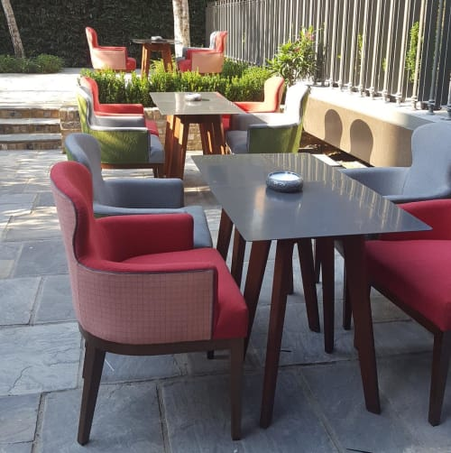 Chairs by Coco Wolf seen at Devonshire Club by Mantis, London - Sammarco  Dining Chair