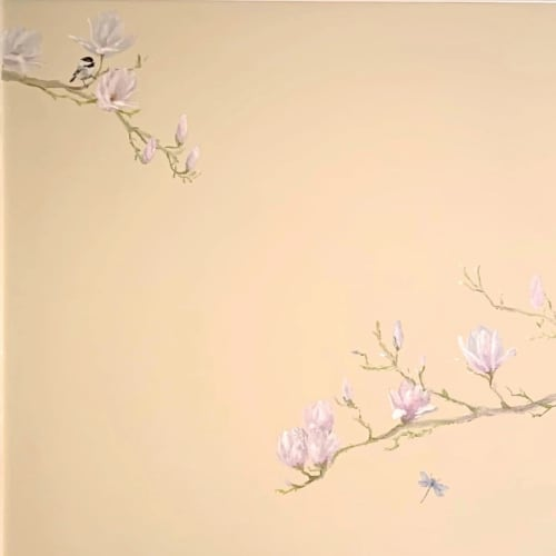 Murals by Walls by Elaine seen at Private Residence, Boring - Magnolia Mural