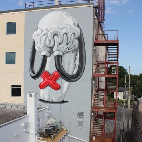 Street Murals by Mark Gmehling seen at Snap Out Loud, Orlando - Turbo-Ooops-Mural