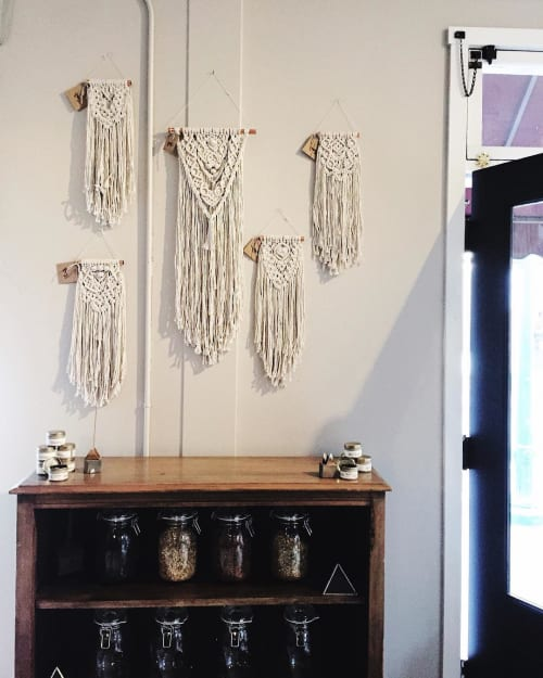 Macrame Wall Hanging by Luna and Black seen at Vouna LLC, Arvada - Macrame Wall Hangings