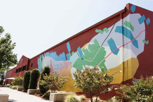 Murals by Heather Day at Provenance Vineyards, Saint Helena - Exterior Mural
